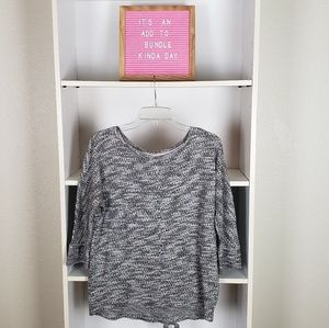 Loft Black White Sweater SZM